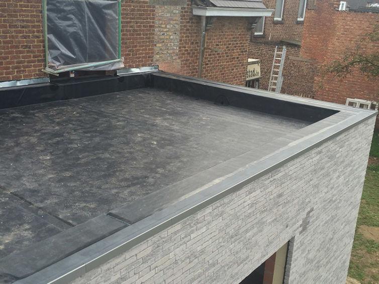 Platte daken in Oudegem